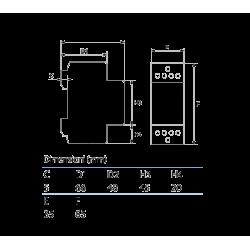 Contattore modurare 4NO AC 230V K40