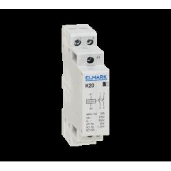 Contattore modurare 2NO AC 230V K20