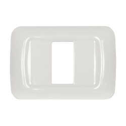 Placca 1 modulo serie Life Style Bianco
