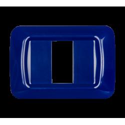 Placca 1 modulo serie Life Style Blu Scuro
