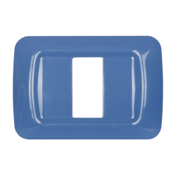 Placca 1 modulo serie Life Style Blu Chiaro