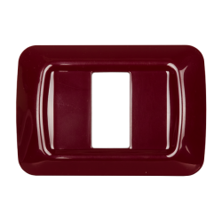 Placca 1 modulo serie Life Style Bordeaux